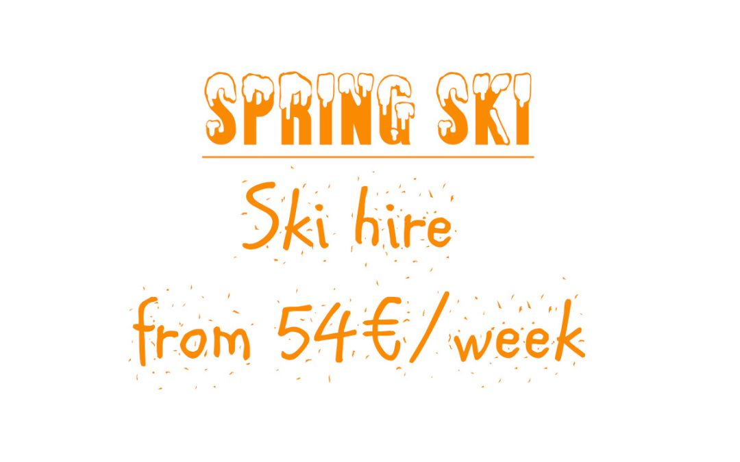 Ski for less in the spring