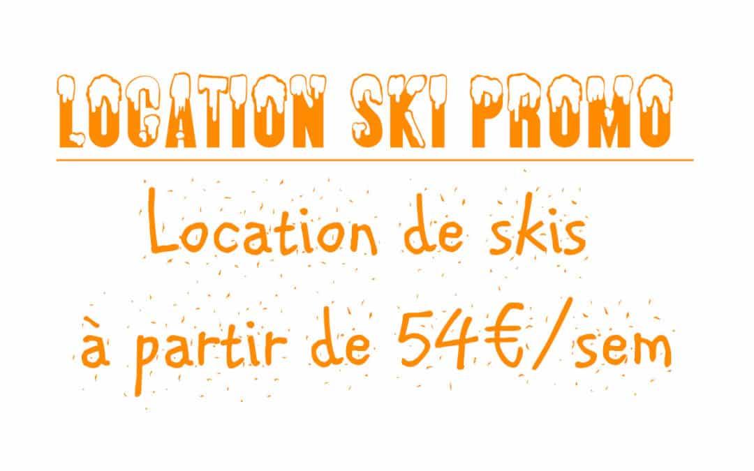 Location de skis moins cher même en vacances de février !
